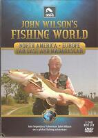 JOHN WILSON'S FISHING WORLD 3 DVD BOX SET - 50 COPIES OF DMDVD462 WHOLESALE LOT