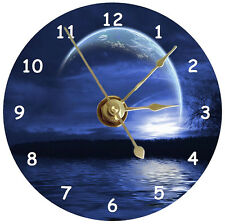 NEW Moon Over The Water CD Clock