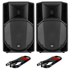 "2x RCF Art 715-A MK4 15"" Active Powered DJ Band Club PA Speaker & FREE Cables"