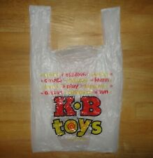 KB TOYS White Plastic Shopping Bag Toy Store Collectible