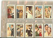 1935 GALLAHER FAMOUS FILM SCENES MOVIE STARS SET 48 CARD COMPLETE SET