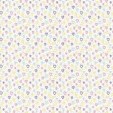 Printed Bow Fabric A4 Multi-coloured Love hearts Pattern LH9 Make glitter bows