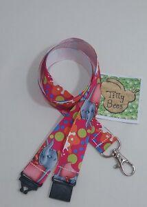 Cute cartoon character elephant ribbon lanyard safety ID badge holder student
