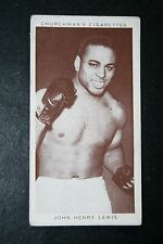 John Henry Lewis    USA Light-Heavy Weight Boxer   Vintage 1930's Card  #  VGC