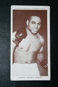 John Henry Lewis    USA Light-Heavy Weight Boxer   Vintage 1930's Card  VGC