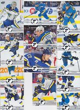 2019-20 Upper Deck Team Set ST LOUIS BLUES (13) Free shipping 2019/20 UD