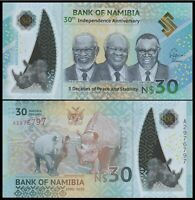 NAMIBIA 30 DOLLARS 2020 30th INDEPENDENCE Commemorative POLYMER NEW-UNC