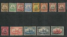 German Dominion Samoa Sc#57-69 Used/VF, High Values Signed, Cv. $1066