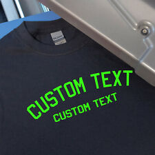 Custom Sports Jersey Arched Text Style 1 Iron On Heat Transfer for T-Shirts