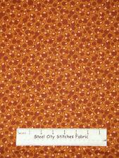 Block Party Flower Toss Warm Brown Tonal  Cotton Fabric RJR Thimbleberries YARD