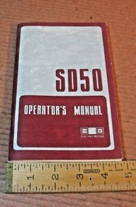 L&N  Louisville Nashville SD50 Electro- Motive  Diesel Locomotives manual