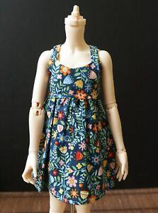 Debi Doo Doll Blue Dress with Small Flowers Minifee 1/4 Slim MSD