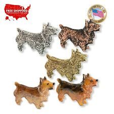Creative Pewter Designs Norwich Terrier Dog Lapel Pin or Magnet, D428F