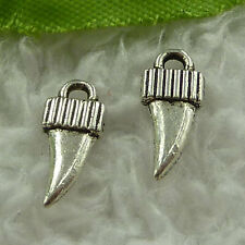 free ship 640 pieces tibet silver nice charms 14x6mm #3722