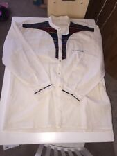 Vintage Linen Hippy Hand Made Shirt Embroidered NOS