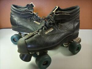 RIEDELL USA AEROBISKATE Sure-Grip VINTAGE Roller Skates Mens Size 11.5 (Read)
