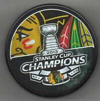 Chicago Blackhawks 2013 NHL Stanley Cup Champions Hockey Puck + FREE Cube