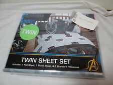 Marvel Black Panther 3 Piece Twin Sheet Set ~ Black, Grey and Red ~ Super Soft!
