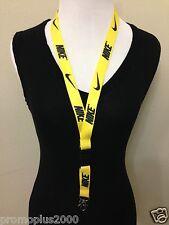 Nike Lanyard Detachable Keychain iPod Camera Strap Badge ID Running Cell Yellow