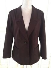 CHICO'S BLAZER SIZE 2  DARK BROWN LONG SLEEVES FULLY LINED