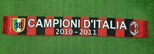 SCIARPA CALCIO MILAN CAMPIONE D'ITALIA 2010/2011 18 SCUDETTO BUFANDA SCARF Z297