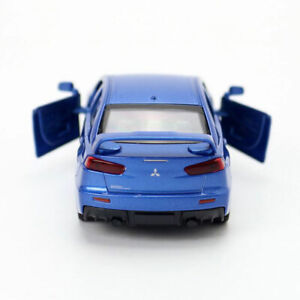 1:41 Mitsubishi Lancer Evolution X Model Car Diecast Toy Vehicle Collection Blue
