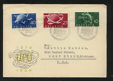 Switzerland  UPU  stamps on cachet cover  1949         KEL1025