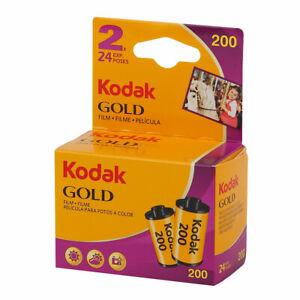 2 Rolls - Kodak Gold 200 35mm 24exp Colour Print Film - 135-24 - Dated 2022
