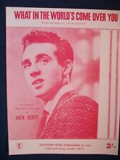 JACK SCOTT - What In The World's Come   Repro  Sheet Music