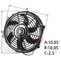"""10"""" Covred FAN W/MOUNTING PULL/PUSH RADIATOR Cooling Electirc Thermo Fan"""