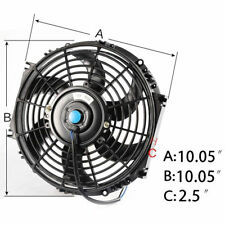 "10"" Covred FAN W/MOUNTING PULL/PUSH RADIATOR Cooling Electirc Thermo Fan"