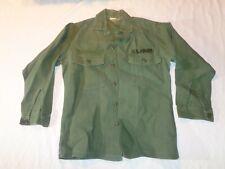 US Army Sateen OG 107 Shirt Long Sleeve DSA 100-67-C-1402 sz. 31 x 14 1/2