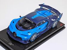 1/18 MR Collection Bugatti Vision Gran Truismo Carbon Blue on Carbon Fiber Base
