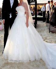 Wunderschönes Brautkleid Farbe Ivory Gr. 36 A-Schnitt mit langer Schleppe