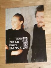 VERY RARE !!! Polish Magazine DEAD CAN DANCE on cover