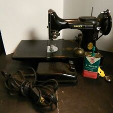 Vintage (1947) Singer Featherweight 221 3-110 Sewing Machine w/ Foot Pedal VG-Ex