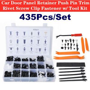 435Pcs Car Door Panel Retainer Push Pin Trim Rivet Screw Clip Fastener w/Tools