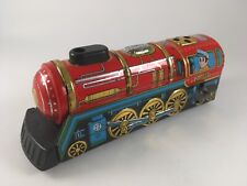 1960's Vintage TIN OVERLAND EXPRESS in BOX Litho Wind Up by YONE 2198  JAPAN