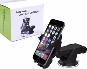 360 Rotate Long Neck One Touch Dashboard Windshield Car Mount for Samsung S9 S8