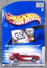 HOT WHEELS ~ GM CREDIT CARD ~ CORVETTE SR-2 ~ RED