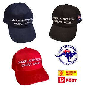 NEW Make Australia Great Again Hat MAGA Cap 2020 Aussie America AUS ANZAC Trump
