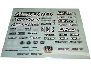 Associated DR10 Team Kit No Prep Drag Car Decal Sheet