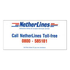 Netherlines Airlines Della Compagnia Aerea Timetable (tabella Orari) Buono Stato