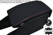 RED STITCHING ARMREST LID LEATHER COVER FITS VOLVO V70 2007-2011
