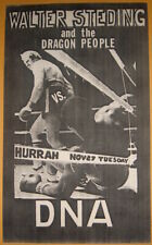Walter Steding vs DNA at Hurrah Concert Poster  November 27 1979   No Wave