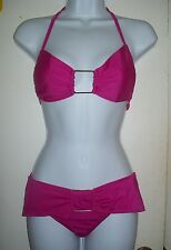 Fushia Pink Bikini Swimsuit & Cover-up, 3Pc Beachwear-Sz Med (9-10) NEW; 4119L