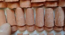N. 50 coppi/tegole 2x1 cm per tetto 10x20mm presepe modellismo  terracotta mar