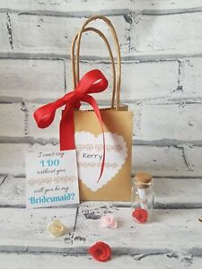 Will you be my Bridesmaid message in a bottle, i can't say I do without you