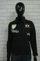 Camicia Donna LA MARTINA Taglia M Maglia Blusa Polo Shirt Woman Manica 3/4 Nero