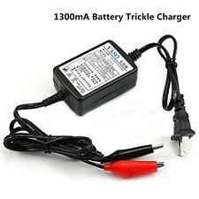 New 12V 1300mA Battery Trickle Charger Tender Maintainer Auto Car/Van/Motorcycle